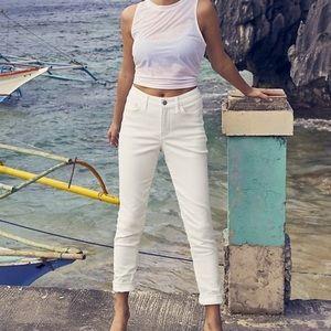 Athleta sculptek skinny jeans in white